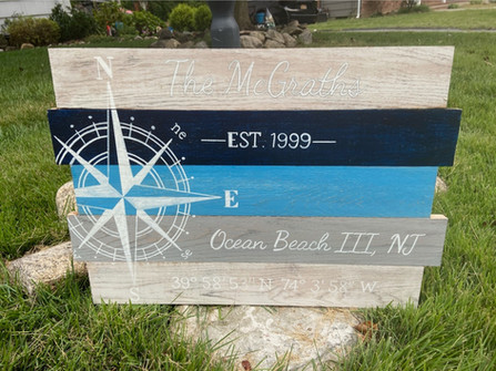 Nautical Compass Rose - Personalized wit
