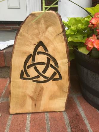 Celtic Trinity Knot on Stump
