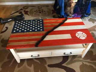 FDNY/American Flag Table