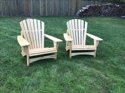 Adirondack Chairs in Natural Finish