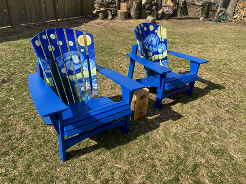 Starry Night Adirondack Chairs