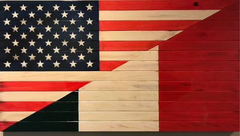 Half American-Half Italian Flag