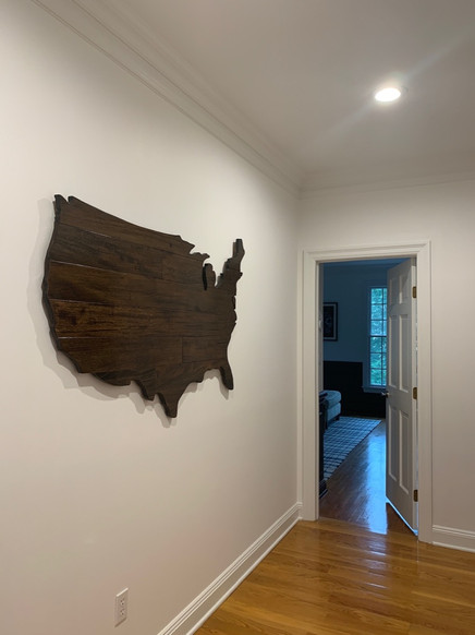 U.S. Silhouette in Dark Stained Wood