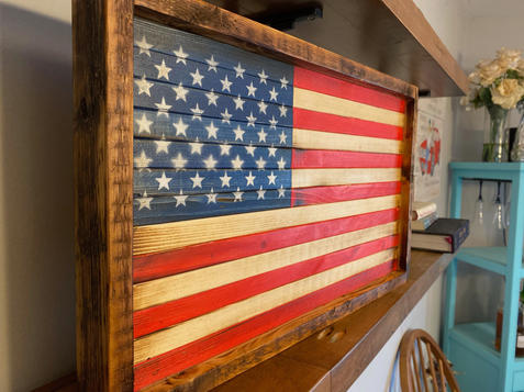 """American Flag - """"Framed with Reclaimed"""""""