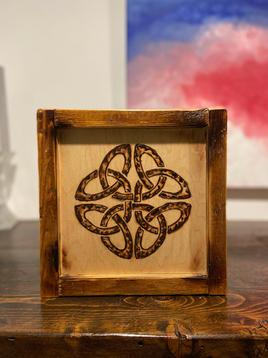 Celtic Knot Burn Art