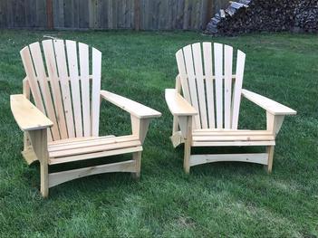 Adirondack Chairs - Natural Finish