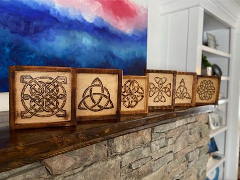 Celtic Knot Burn Art Series