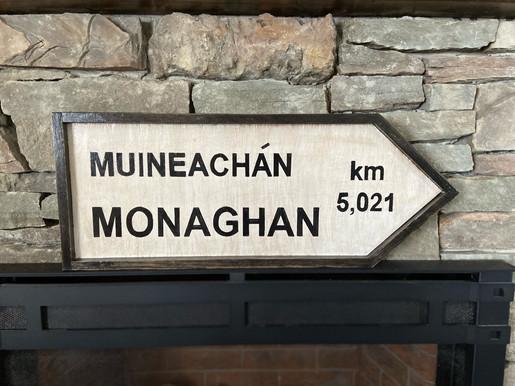Monaghan Irish Road Sign