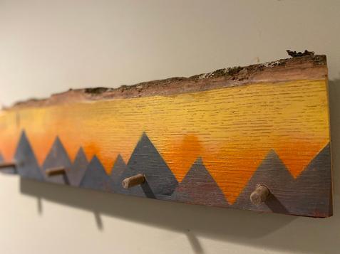 Live Edge Mountain Art with Hooks