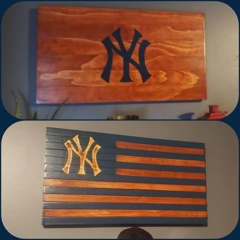 NY Yankees Flags