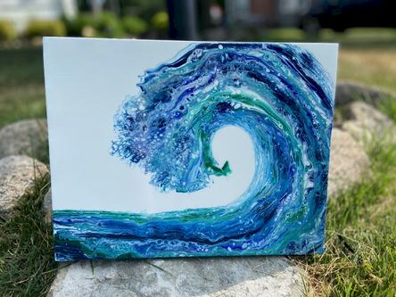 Acrylic Pour Wave