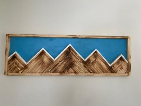 Simple Ridge Mountain Art