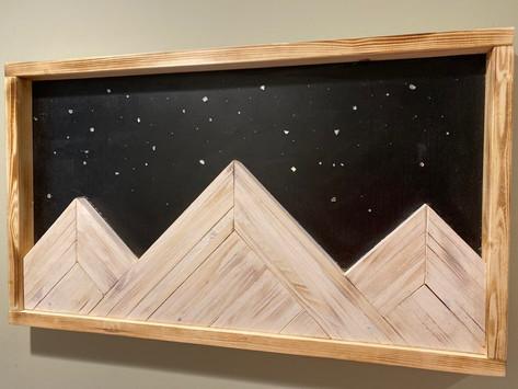 Starry Night Mountain Art