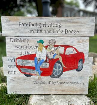 Jungleland - 2 girls on a Dodge