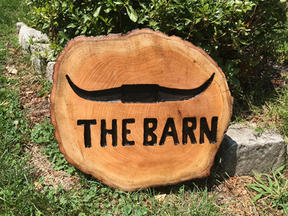 """Personalied Sign for """"The Barn"""""""
