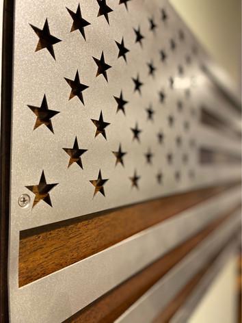 Metal American Flag