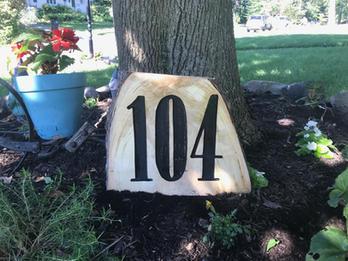 House Number on Stump
