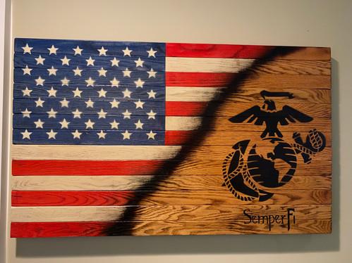 American Flag - USMC Semper Fi