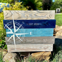 Nautical Compass Rose Personalized