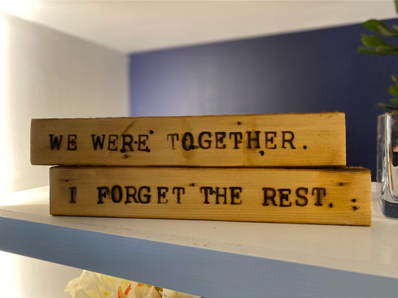 Personalized Quotes on Stackable Wood