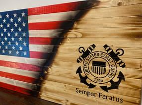 American-U.S. Coast Guard Flag
