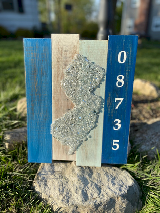 Lavalette Crushed Glass Jersey Outline
