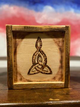 Celtic Mother-Child Burn Art