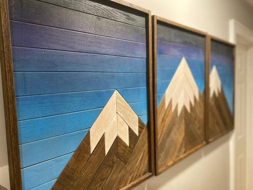 Triptych Mountain Art