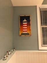 Geometric Lighthouse Art