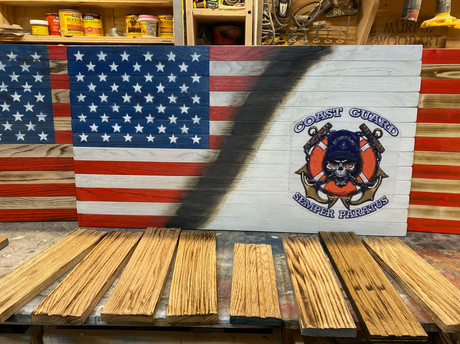 American Flag - US Coast Guard