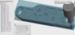 Esquema no Auto CAD de uma peça a ser usinada por uma máquina CNC