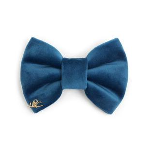 Velvet Bow Tie - Sapphire