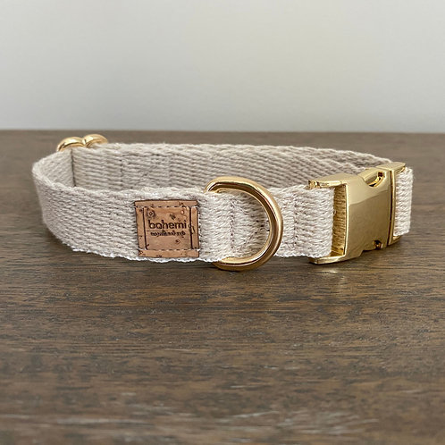 Hemp Collar - Gold Hardware