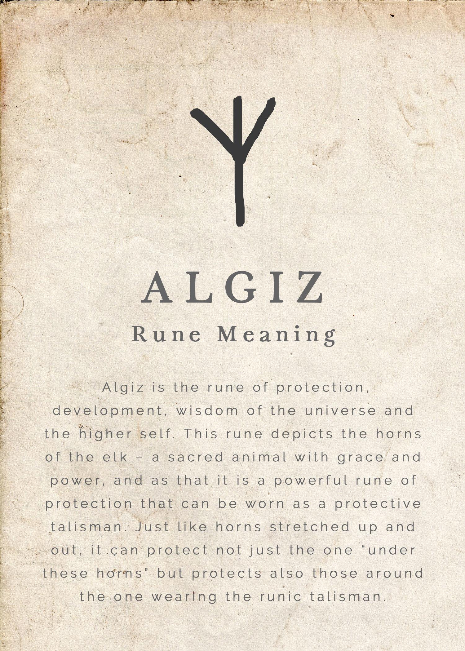 Rune algiz Rune Meanings: