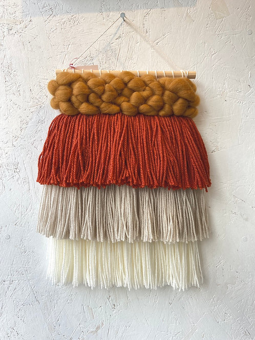 Mustard & Burnt Orange Wall Hanging - Warp Weft Weave