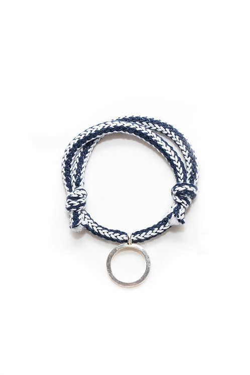 Open Circle Cotton Cord Bracelet
