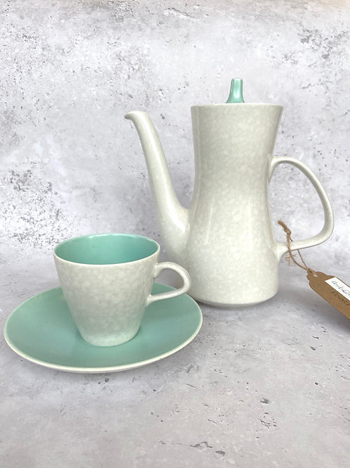 """Vintage Poole Pottery Twintone """"Ice Green & Seagull"""" Set"""