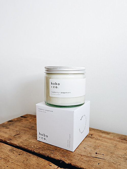 Hobo & Co Raspberry + Peppercorn Large Jar Candle