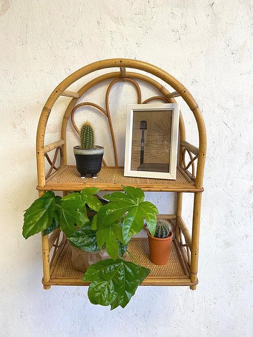 Vintage Cane Wall Shelf