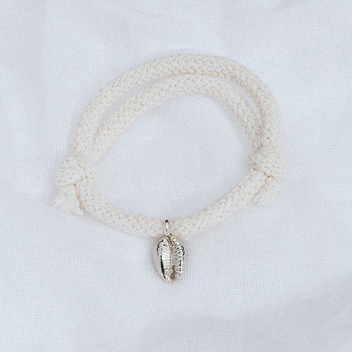 Cowrie Shell Cotton Cord Bracelet