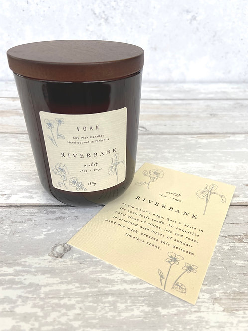 Riverbank Medium Amber Jar Candle
