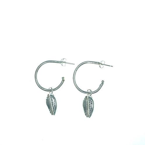 Cowrie Shell Open Hoop Earring