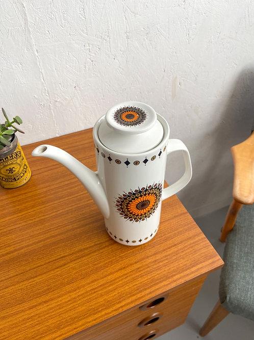 Vintage J&G Meakin 'Inca' Coffee Pot