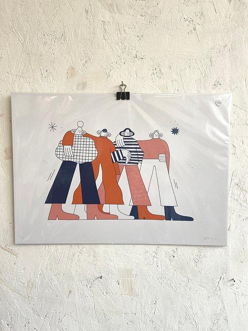 Together Print A3 - Hollie Fuller