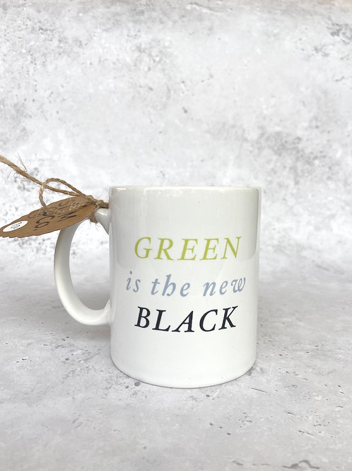 'Green is the new black' Stem&Co Mug