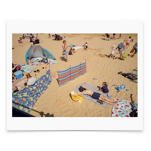 Abstract Beach Mounted Print - Dan Baker