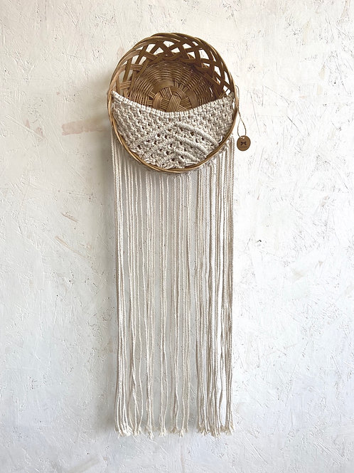 Woven Basket Hanging by Lillknot