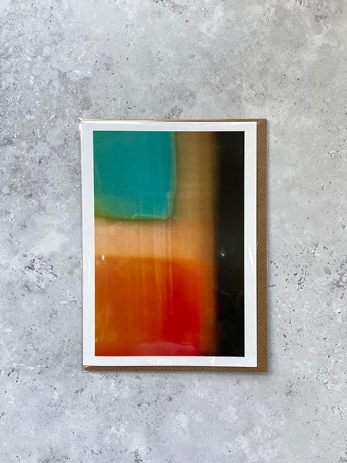 'Untitled (Aqua & Orange) A6 Card/Print by Lee Gilby