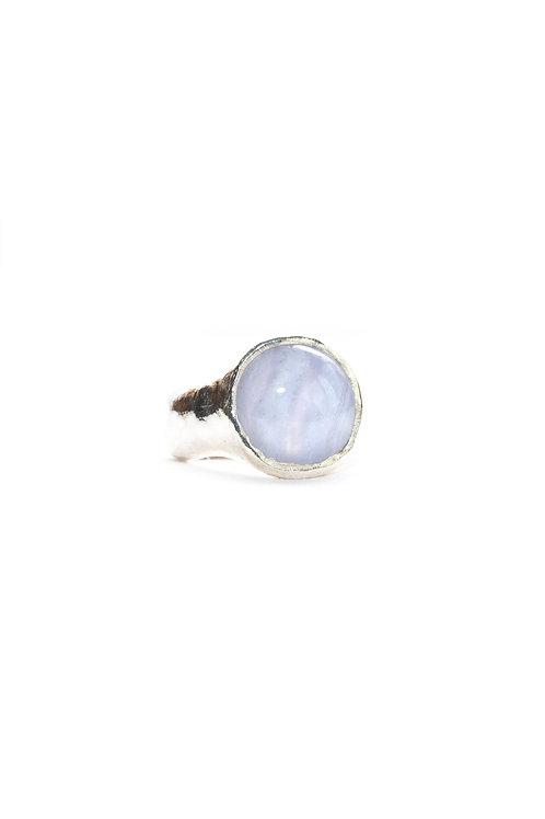 Blue Lace Agate Aurora Ring