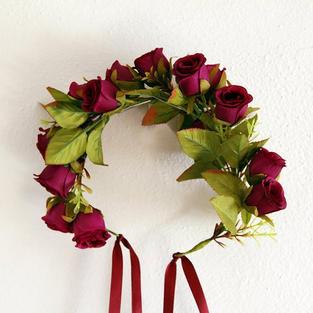 Burgundy Flower Wreath